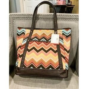 NWT Missoni For Target Multicolor Zigzag Tote Bag